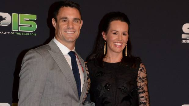 Dan Carter and his wife Honor attend the BBC Sports Personality of the Year Awards at
