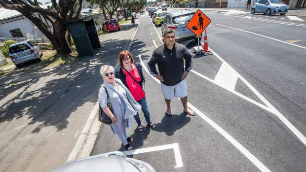 Jane Byrne, Fiona Cockerill-Ghanem, and Southern ward councillor Paul Eagle are not happy with the cycleway.