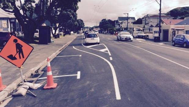 This picture of the half-finished Island Bay cycleway posted on Wellington City Council's Facebook page by Hayden ...