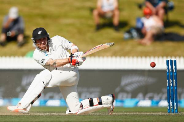 Brendon McCullum bats during day three of the Second Test match between against Sri Lanka at Seddon Park  December 2015 ...