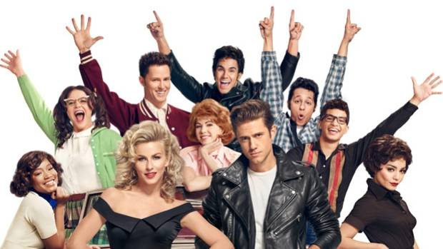 The Grease Live cast in character.