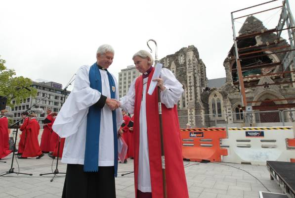 A service for the deconsecration of the Christ Church Cathedral Peter Beck and Victoria Matthews in November 2011.