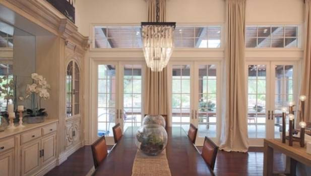 It's a traditional look for the interior of Kylie Jenner's mansion in Calabasas, California.