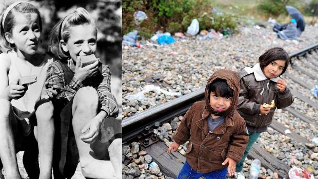 The plight of refugee children fleeing conflict in 2015 bears a grim resemblance to what the world saw after 1945.