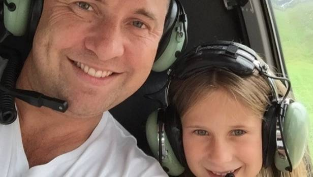 Aaron Toresen with daughter Heidi in the chopper just before the crash.