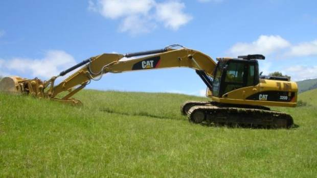 Police seized a digger worth $300,000 - paid for through crime profits.