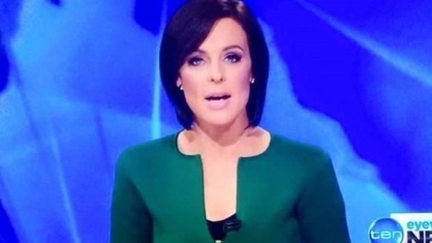 Ten News' Natarsha Belling and her phallic-shaped neckline.