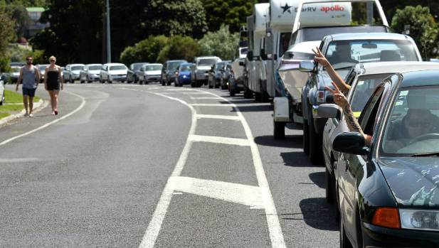 A driver travelling 25 kmh along a Coromandel road caused traffic mayhem on Tuesday, creating a backlog of 50 to 70 cars.