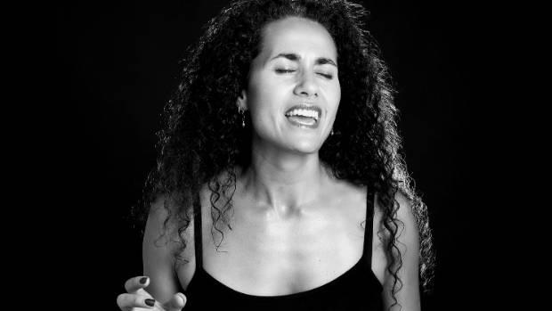 Pacific poet: Waiheke resident Selina Tusitala Marsh performing her poetry.