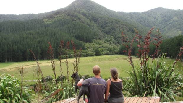Dean Lee and Dianne Penwarden bask in the tranquillity of their remote Marlborough home.