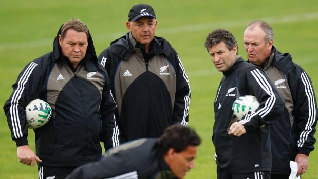 All Blacks mental skills coach Gilbert Enoka, centre, helped transform the national team after a rough childhood.
