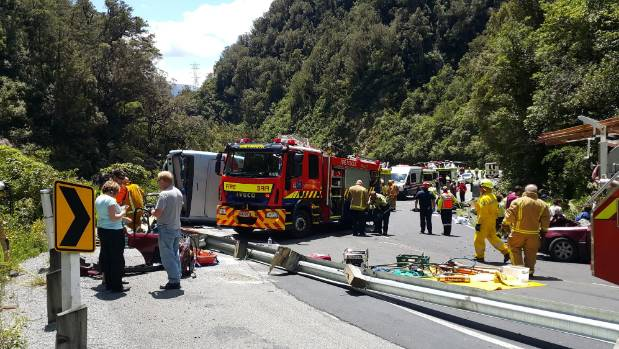 The coach was traveling fast before it crashed in Otira Gorge on Thursday, passengers say.