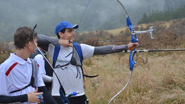 Yiftach Swery competed in the Archery New Zealand Championship last month.