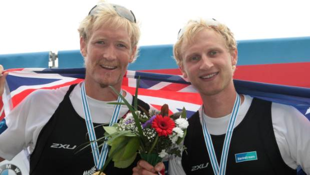 Kiwi rowers Eric Murray, left, and Hamish Bond will be in the running for gold at the Rio Olympics.