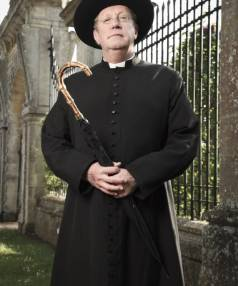 """""""I thought about losing the trousers, but I couldn't do it"""": Mark Williams as Father Brown."""