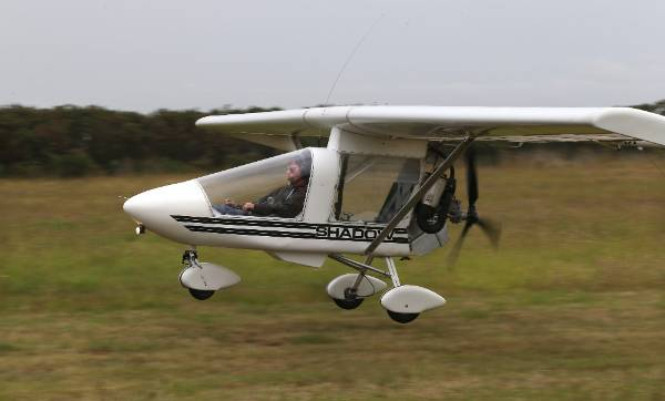 Ross Brodie in one of 16 light aircraft he flew on his 16th birthday.