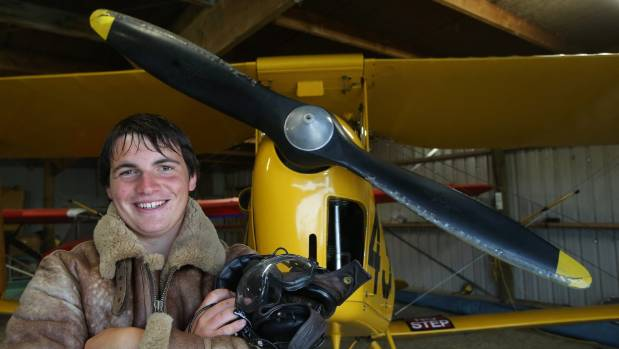 Ross Brodie, of Rangitata, flew solo 16 times on his 16th birthday.