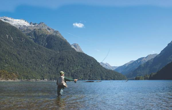 Fly fishing in Southland.