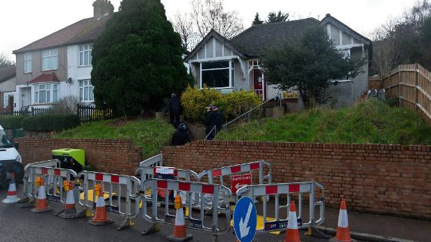 A police cordon outside Sian Blake's London home.