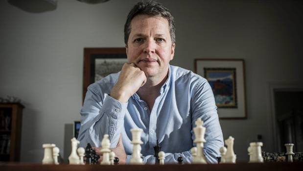 The British chess grand master Nigel Short in Devonport, Auckland, this week for the New Zealand Chess Championships.