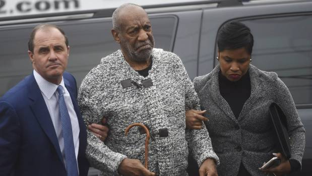 Bill Cosby arrives with attorney Monique Pressley at court to face sexual assault charges.