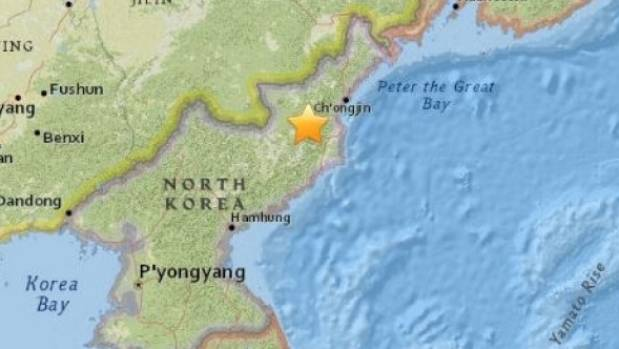 The explosion was first detected as a magnitude 5.1 earthquake by the US Geological Survey.