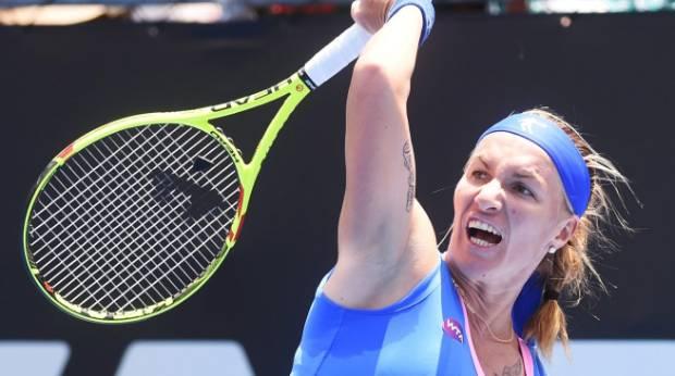 It didn't go right for Svetlana Kuznetsova at Stanley Street on Wednesday