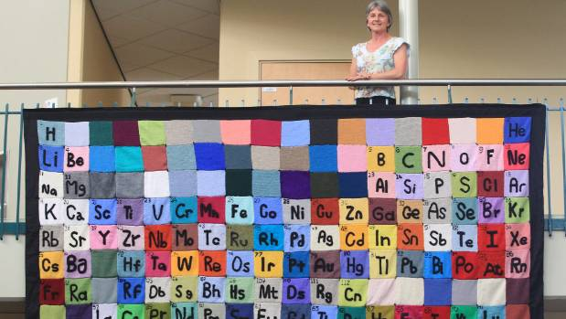 They are the elements in the room but only very briefly stuff wendy jackson with a knitted periodic table at the university of waikato the four new urtaz Choice Image