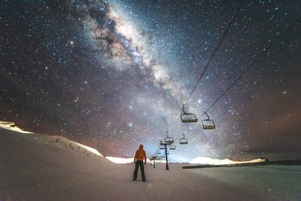 Cardrona ski resort.