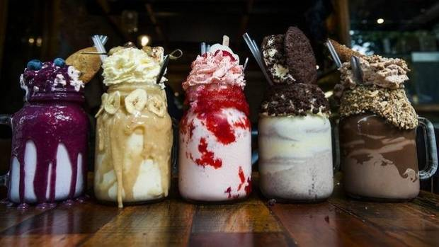 Freakshakes. Take a photo and have half, says dietitian Catherine Saxelby.