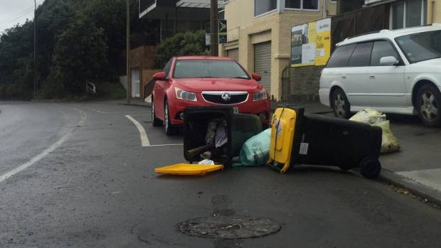 Wellington City Council had warned residents not to put their bins out to avoid this situation.