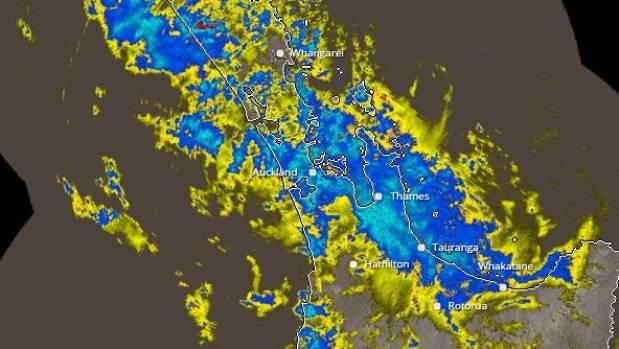 Rain covers Auckland
