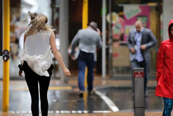 Wild weather hit Wellington on Friday.