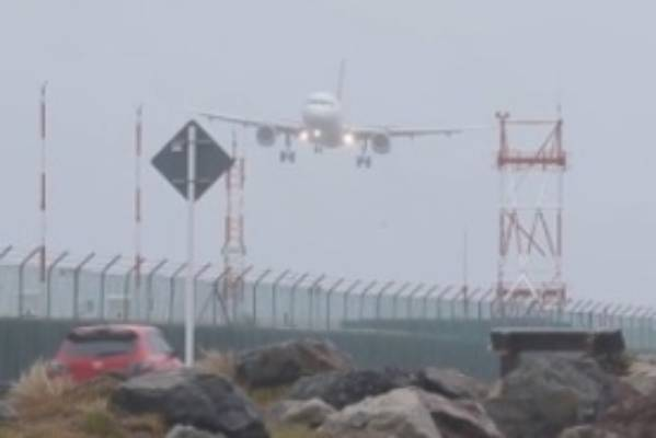 Driving gales made for some hairy landings at Wellington Airport on Friday.