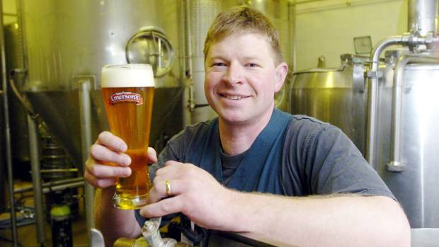 A beardless Richard Emerson in 2004, but still more than a decade after first starting the brewery.