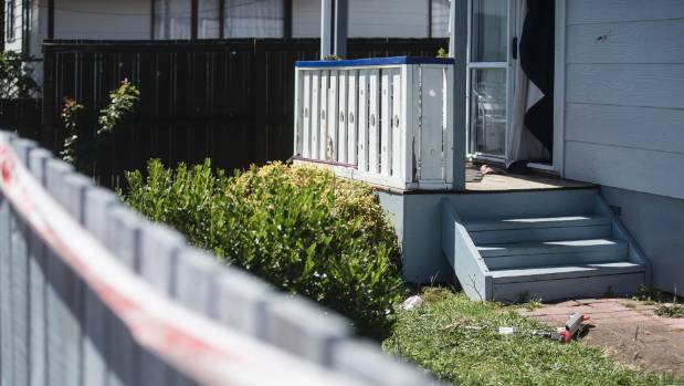 Police cordoned off a Frankton house where they believe a man was shot in the leg.