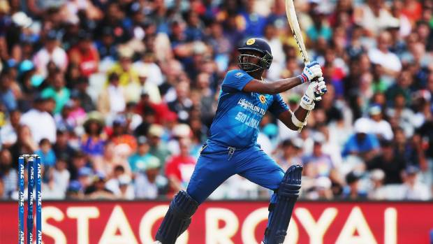 Angelo Mathews plays another brilliant shot.