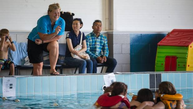 SwimMagic instructor Lisa Stove during the Wet & Wild Challenge at the Richmond aquatic Centre on Monday