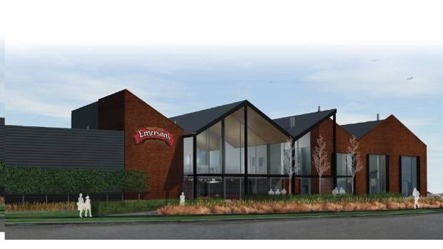 Emerson's new brewery and restaurant in Dunedin is nearing completion.