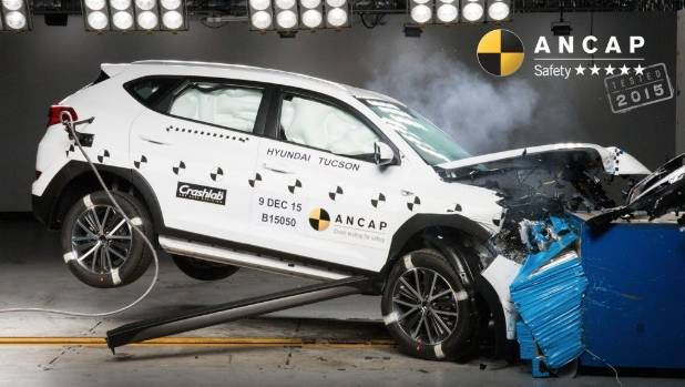 Tucson was redesigned by Hyundai and retested by ANCAP to achieve a five-star score.