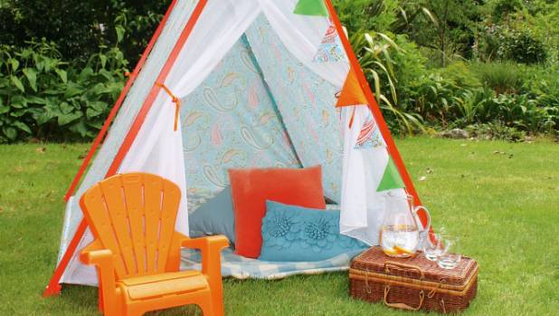 Create a delightful retreat for little ones to enjoy. & DIY project: Build your own childrenu0027s play tent | Stuff.co.nz