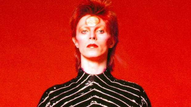 Bowie in costume during the Aladdin Sane tour, 1973.