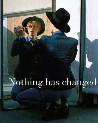 In 2014 David Bowie released a compilation album called Nothing Has Changed, the first to showcase his entire career.