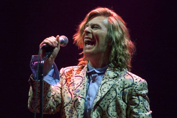 Headlining the Glastonbury Festival in 2000, the first time Bowie had played there since 1971.