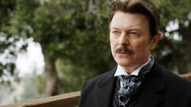 Bowie as Nikola Tesla in The Prestige.