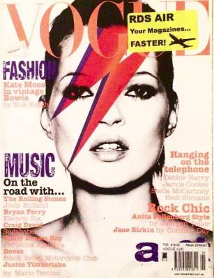 Kate Moss is a huge Bowie fan, and this cover makes a lot of sense.