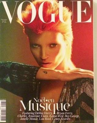 This Paris Vogue cover, directed by editor Emmanuelle Alt, is a beautifully soft take on Bowie's look.