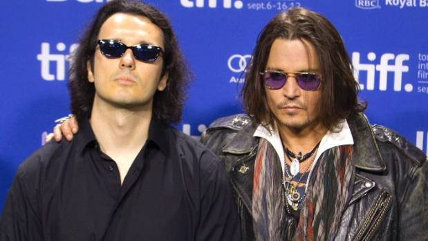 Damien Echols (left) with actor Johnny Depp, who advocated for the West Memphis Three.