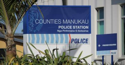 An officer sprayed a man in the face with pepper spray during a struggle at the Manukau Police Station (file photo).