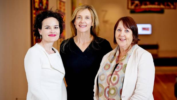 Colliers International brokers Georgina Young, left, Michelle Chadwick and Janette Lillas are reading to take on ...